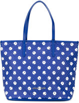 Armani Jeans perforated circle print tote - women - PVC - One Size