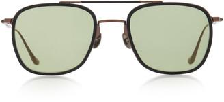 Matsuda Eyewear Oversized Square-Frame Metal Sunglasses