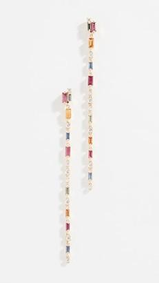 Suzanne Kalan 18k Dangling Rainbow Fireworks Earrings