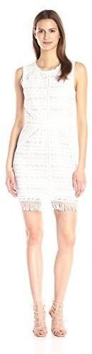 Greylin Women's Mina Fringe-Lace Dress