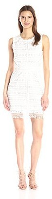 Greylin Women's Mina Fringe-Lace Dress