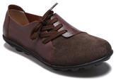 Lebe Women's Boat Shoes Brown - Brown Asymmetric-Eyelet Suede-Toe Leather Oxford - Women