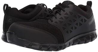 Reebok Work Sublite Cushion Work Comp Toe ESD (Black) Men's Work Boots