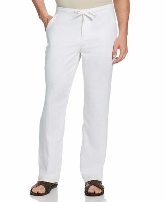 "Cubavera 30"" Inseam Single Pocket Drawstring Linen Pant"