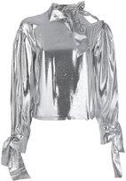 IRO mirrored scarf neck shirt
