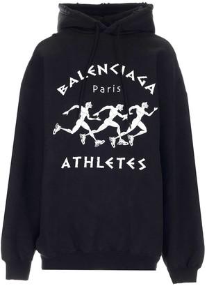 Balenciaga Athletes Print Hoodie