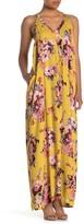 Love Stitch Floral V-Neck Maxi Dress