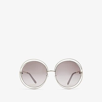 Chloé Carlina Round - CE114SL (Gold/Transparent Brown/Gradient Flash) Fashion Sunglasses