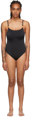 Versace Underwear Black Medusa Coin One Piece Swimsuit