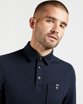 Ted Baker AKT Thick textured polo shirt
