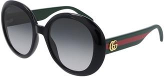 Gucci Round Web Arm Sunglasses