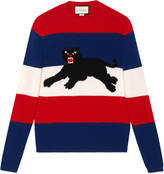 Gucci Wool sweater with jacquard panther
