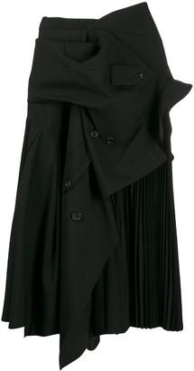 Junya Watanabe Asymmetric Midi Skirt