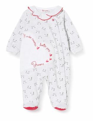 Brums Baby Girls' Tutina Jersey Aperta Davanti Footies