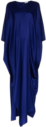 Rosetta Getty Asymmetric Draped Kaftan Maxi Dress