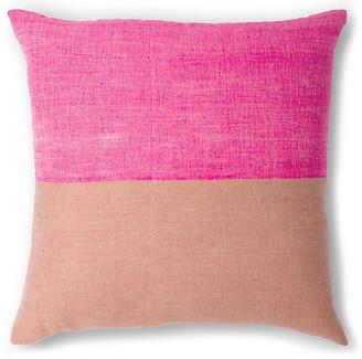 Bole Road Textiles Karo 20x20 Pillow - Cerise