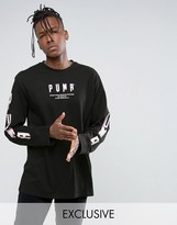 Puma Graphic Long Sleeve Top In Black Exclusive To Asos 57533701