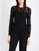 Diane von Furstenberg Yeva floral-lace top