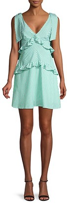 BCBGeneration Striped Cotton Mini Dress