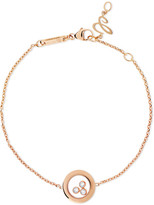 Chopard Happy Diamonds 18-karat Rose Gold Diamond Bracelet