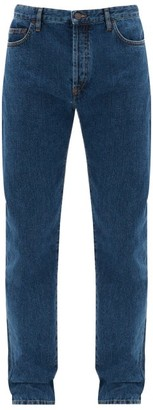 The Row Irwin Straight-leg Washed Jeans - Blue