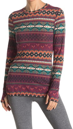 Free People Chilly Nights Printed Long Sleeve Top