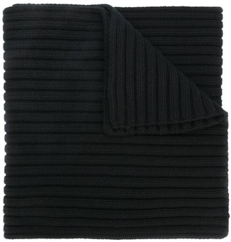 Stone Island Thick Ribbed Knit Scarf