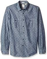 Dockers Long Sleeve Slim Chambray Button Front Woven Shirt
