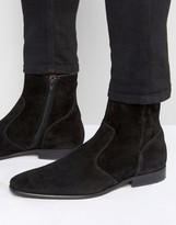 Zign Shoes Suede Zip Boots