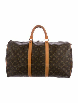 Louis Vuitton Vintage Monogram Keepall 45 Brown