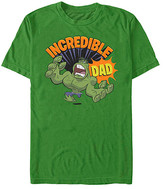 Fifth Sun Tee Shirts KELLY - The Incredible Hulk Kelly Green 'Incredible Dad' Crewneck Tee - Adult