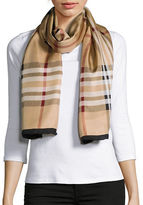 Lord & Taylor Silk Plaid Scarf