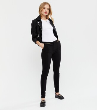 New Look Zip Front Stretch Slim Leg Trousers