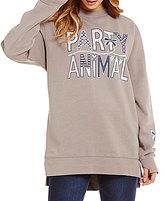Jadelynn Brooke Party Animal Graphic Print Sweatshirt