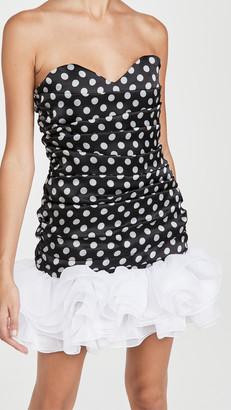 Giuseppe di Morabito Strapless Mini Dress with Tulle