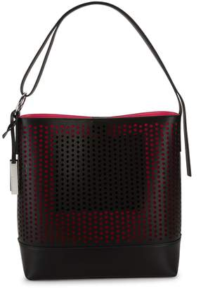Vince Camuto Perforated Leather Tote
