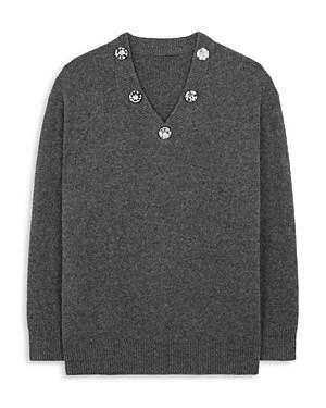 Christopher Kane Crystal V Neck Sweater