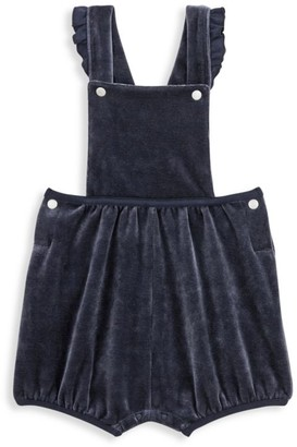 Petit Bateau Baby Girl's Ruffle Shortalls