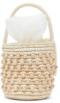 Sensi Studio - Beaded Toquilla Straw Bucket Bag - Womens - Beige