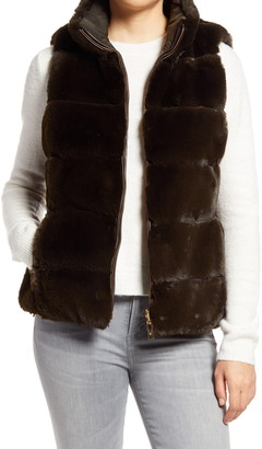 Via Spiga Faux Fur Reversible Vest