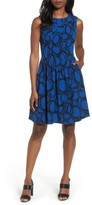 Anne Klein Women's Print Fit & Fare Dress