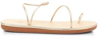Ancient Greek Sandals Kansiz Metallic Toe-Loop Sandals