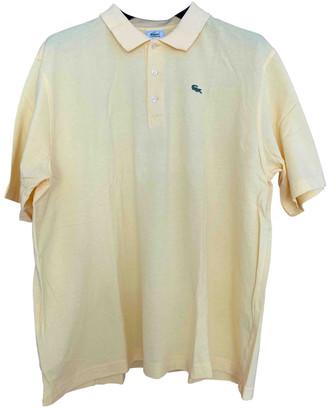 Lacoste Yellow Cotton Polo shirts