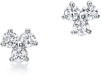 Tiffany & Co. Aria earrings in platinum with diamonds