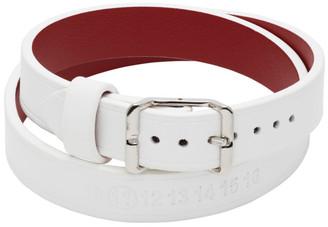 Maison Margiela White Leather Bracelet