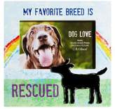 """Gibson CR 8-Inch x 8-Inch """"My Favorite Breed is Rescued"""" Dog Lover Pet Frame with Easel Back"""