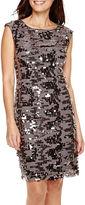 Studio 1 Sleeveless Sequin Sheath Dress - Petite