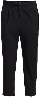 Ami Paris Elasticized-Waist Virgin Wool Trousers