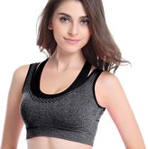 chendongdong Women Double Layler Seamless Push Up Padded Sport Bra Racerback Yoga Running Vest