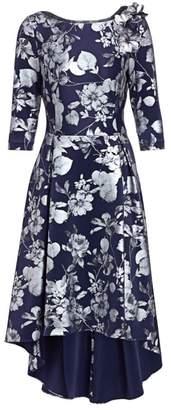Teri Jon By Rickie Freeman Printed Scuba High-Low A-Line Dress